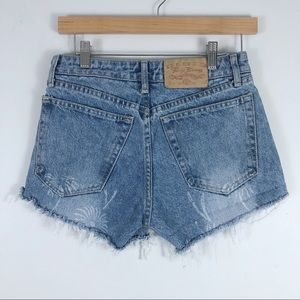 Vintage High Waisted Jean Shorts Size 7